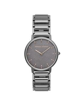 Major Grey Ion Plated Tone Bracelet Watch, 35mm by Rebecca Minkoff