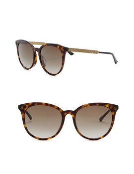 56mm Rounded Sunglasses by Gucci