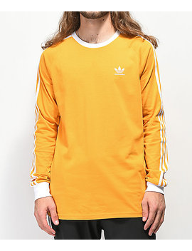 Adidas Clima 2.0 Yellow Long Sleeve T Shirt by Adidas