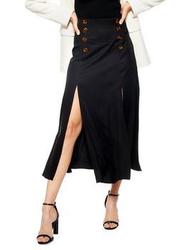 Splice Midi Skirt by Topshop