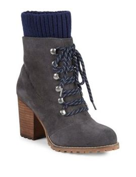 Kari Stack Heel Hiking Boots by Renvy