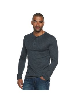 Men's Marc Anthony Slim Fit Slubbed Sweater Henley by Kohl's