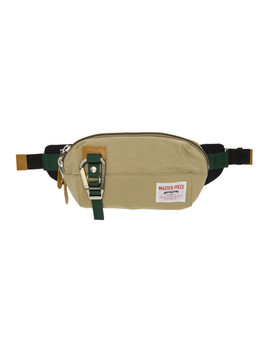 Beige Link Pouch by Master Piece Co