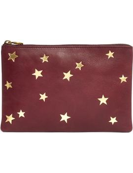 Star Embossed Leather Pouch Clutch by Madewell