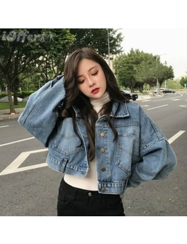 Women's Fashion Elastic Slim Retro Denim Short Jacket by I Offer
