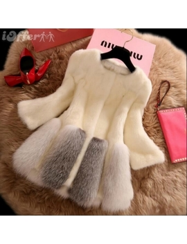 New Women's Fashion Fur Coat Mid Warm Winter Coat H8 by I Offer