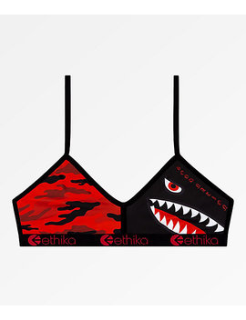 Ethika Red Camo Bralette by Ethika