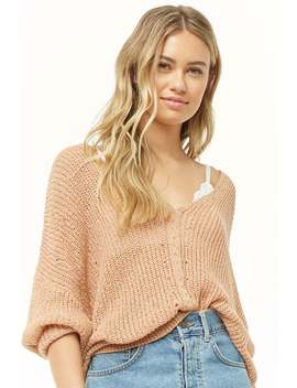 Sheer Ricrac Knit Sweater by Forever 21