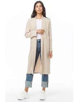 Longline Shawl Collar Jacket by Forever 21