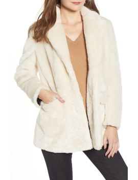 Yuna Teddy Faux Fur Jacket by J.Crew