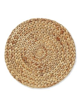 Festive Fall Collection Round Woven Water Hyacinth Placemat by Southern Living