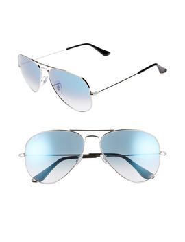 58mm Gradient Aviator Sunglasses by Ray Ban
