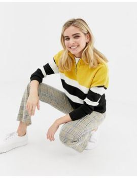 New Look Sweater With Zip In Yellow by New Look