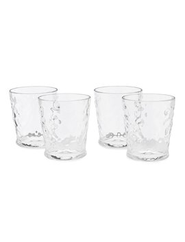 Acrylic Valencia Textured Double Old Fashioned Glasses, Set Of 4 by Southern Living