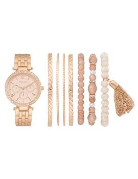 Folio Women's Crystal Watch & Bracelet Set by Kohl's