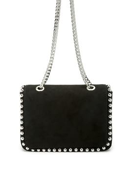 Faux Suede Studded Shoulder Bag by Forever 21