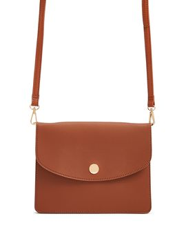 Flat Flap Top Handbag by Forever 21