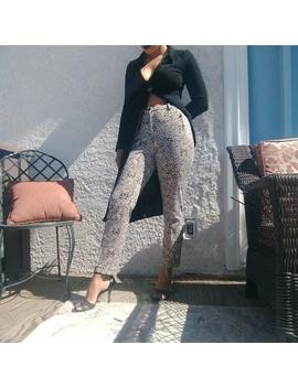 ✌🏽Calvin Klein Snake Ish Print High Rise Pants by Calvin Klein