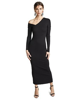 Tilted Alloy Rib Midi Dress by The Range