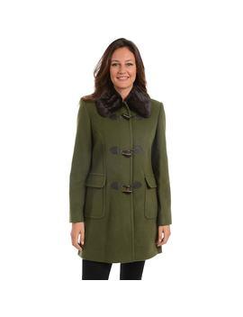 Women's Fleet Street Faux Fur Trim Wool Blend Coat by Kohl's