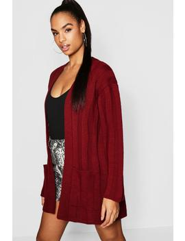 Tall Wide Rib Slouchy Cardigan by Boohoo