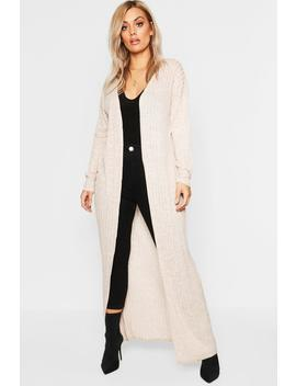 Plus Soft Rib Maxi Cardigan by Boohoo