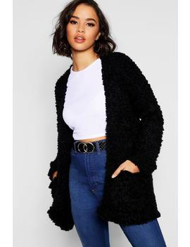 Edge To Edge Cardigan With Textured Yarn Mix by Boohoo