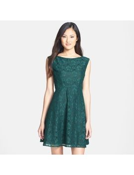 French Connection Lizzie Ruth Jewel Green Fit N' Flare Dress Size 6 $168 Nwt by French Connection