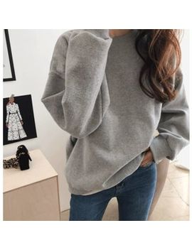 Daily Look   Round Neck Fleece Lined Pullover by Daily Look