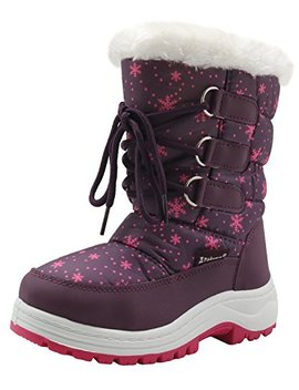 Apakowa Kids Girls Insulated Fur Winter Warm Snow Boots (Toddler/Little) by Apakowa