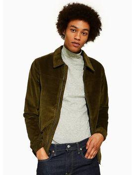 Selected Homme Khaki Corduroy Organic Cotton Jacket by Topman