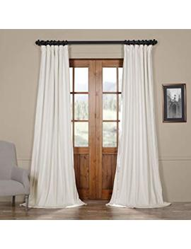 Half Price Drapes Vpch 110602 120 Signature Blackout Velvet Curtain, Off White, 50 X 120 by Hpd Half Price Drapes