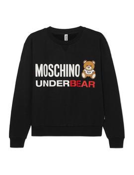 Printed Cotton Jersey Sweatshirt by Moschino
