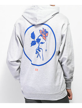 Never Made Window Rose 2 Grey Hoodie by Never Made