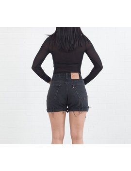 All Sizes Black Vintage Levis Cut Off Cuffed Shorts by Etsy