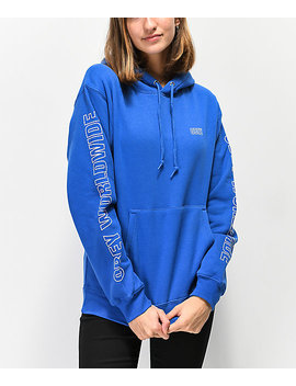 Obey Worldwide Outline Royal Blue Hoodie by Obey