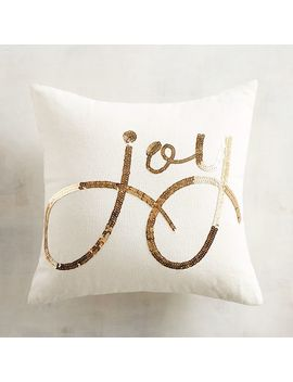 Gold Sequined Joy Pillow by Pier1 Imports