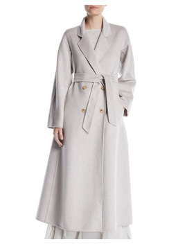 Bondone Double Breasted Belted Cashmere Coat by Maxmara