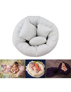4 Pc Newborn Photo Props, Baby Photography Basket Filler Wheat Donut Posing Props Baby Pillow by Amazon