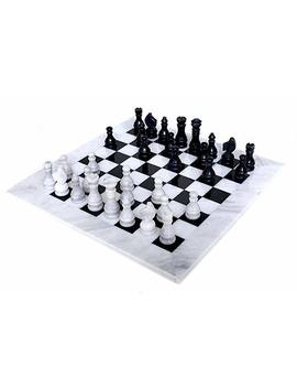 Radica Ln 16 Inches Handmade Black And White Marble Full Chess Game Original Marble Chess Set by Amazon