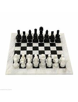 Scacchiera Con Intarsi In Marmo Bianco Nero Marble Chess Set Chessboard Classic Design by Amazon