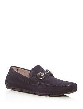 Men's Parigi Suede Moc Toe Drivers by Salvatore Ferragamo