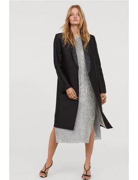 Длинный жакет, шерсть с шелком by H&M