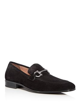 Ferragamo Men's Suede Apron Toe Loafers by Salvatore Ferragamo