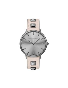 Major Gunmetal Tone Pyramid Studded Leather Watch, 35 Mm by Rebecca Minkoff