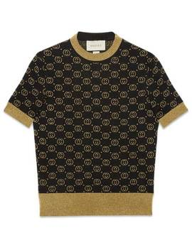 Wool Top With Gg Motif by Gucci