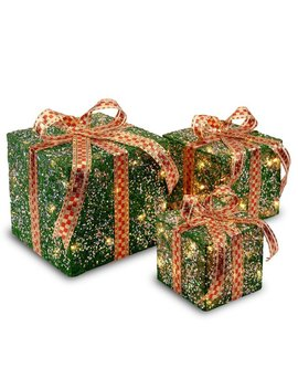The Holiday Aisle 3 Piece Gift Boxed Christmas Decoration Set With Clear Lights & Reviews by The Holiday Aisle