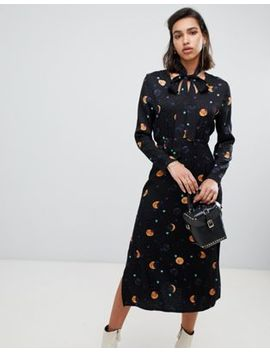 Fabienne Chapot Midi Dress In Moon And Star Print by Fabienne Chapot