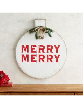 Red Merry Merry Ornament Wall Decor by Pier1 Imports