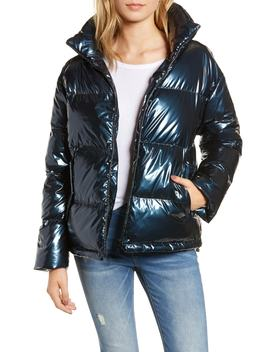 Metallic Puffer Coat by Bernardo